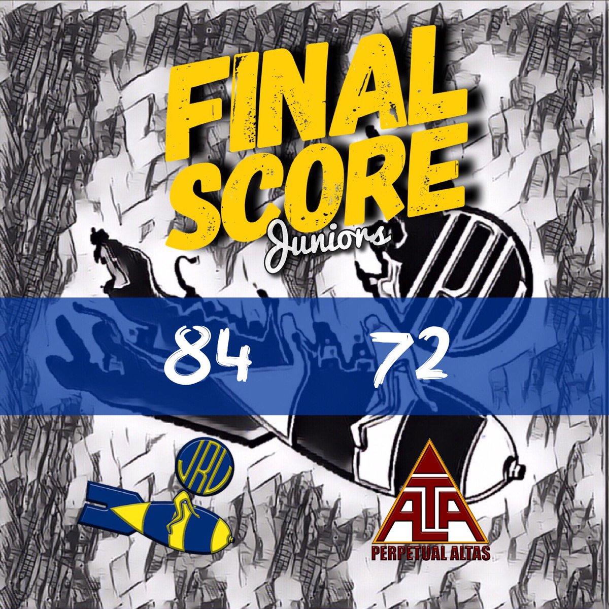JRU Light Bombers dominated against UPHSD Junior Altas, 84-72.  #NCAASeason94 #MabuhayRizal #GalingJRU<br>http://pic.twitter.com/p3p2kfLDEN