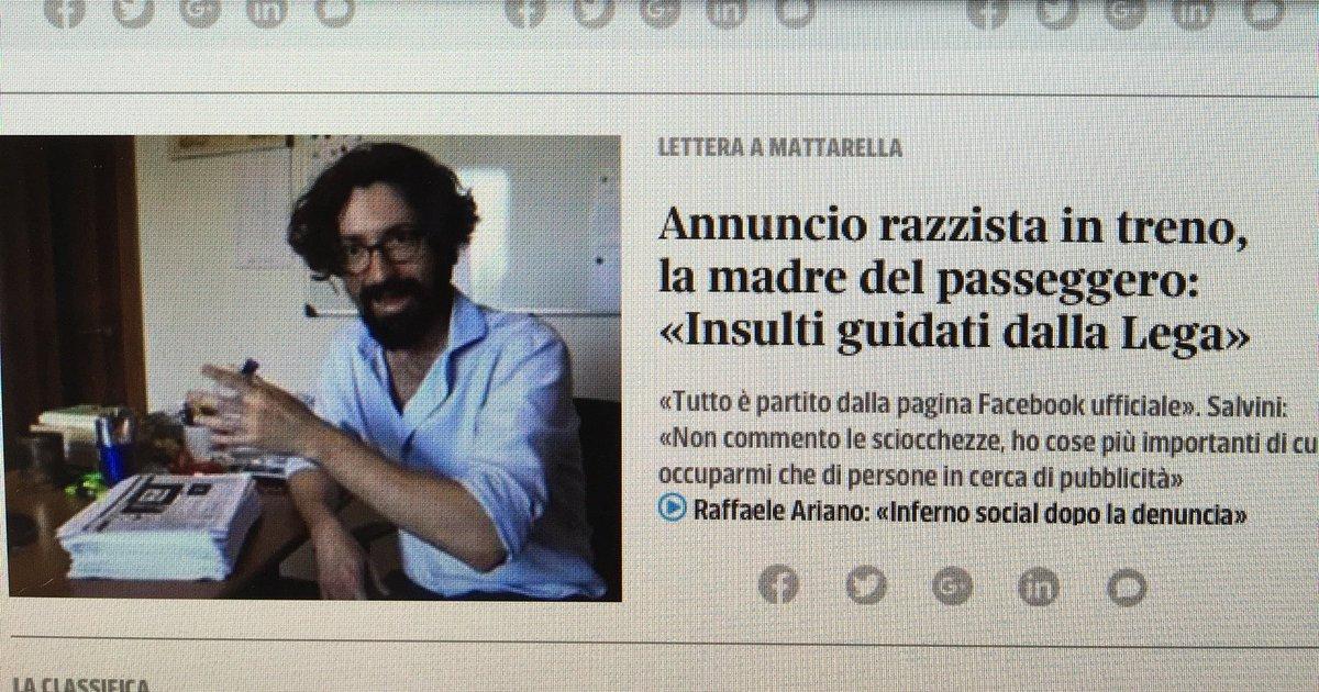 La mamma del blogger dell'Unita' (#Ariano, il fenomeno che aveva denunciato la #capotreno #Trenord) che scrive a Mattarella: gne gne gne, il mio bambino, gli hanno fatto la bua. Niente, fa già ridere così.  - Ukustom