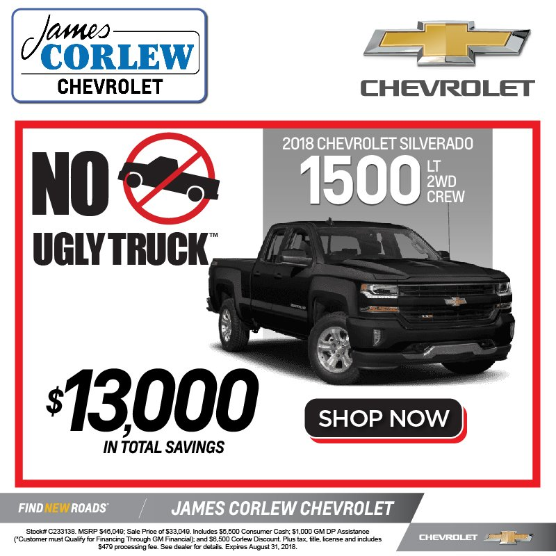 James Corlew Chevrolet On Twitter It S The No Ugly Truck