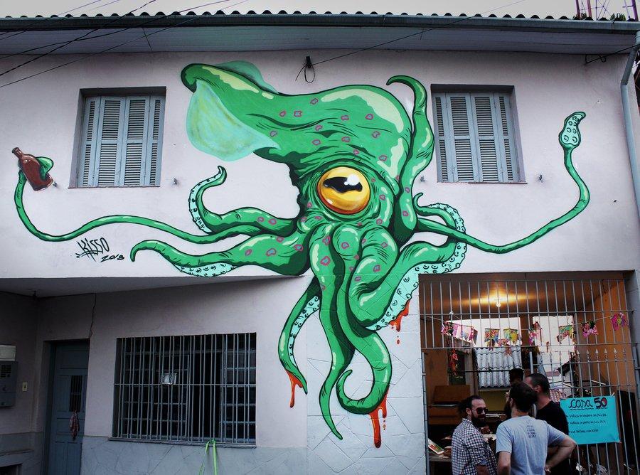 Awesome piece painted by Kisso ( http:// globalstreetart.com/kisso  &nbsp;  ) in #Brazil! -- #globalstreetart #streetart #art<br>http://pic.twitter.com/ypaUo8ywqn