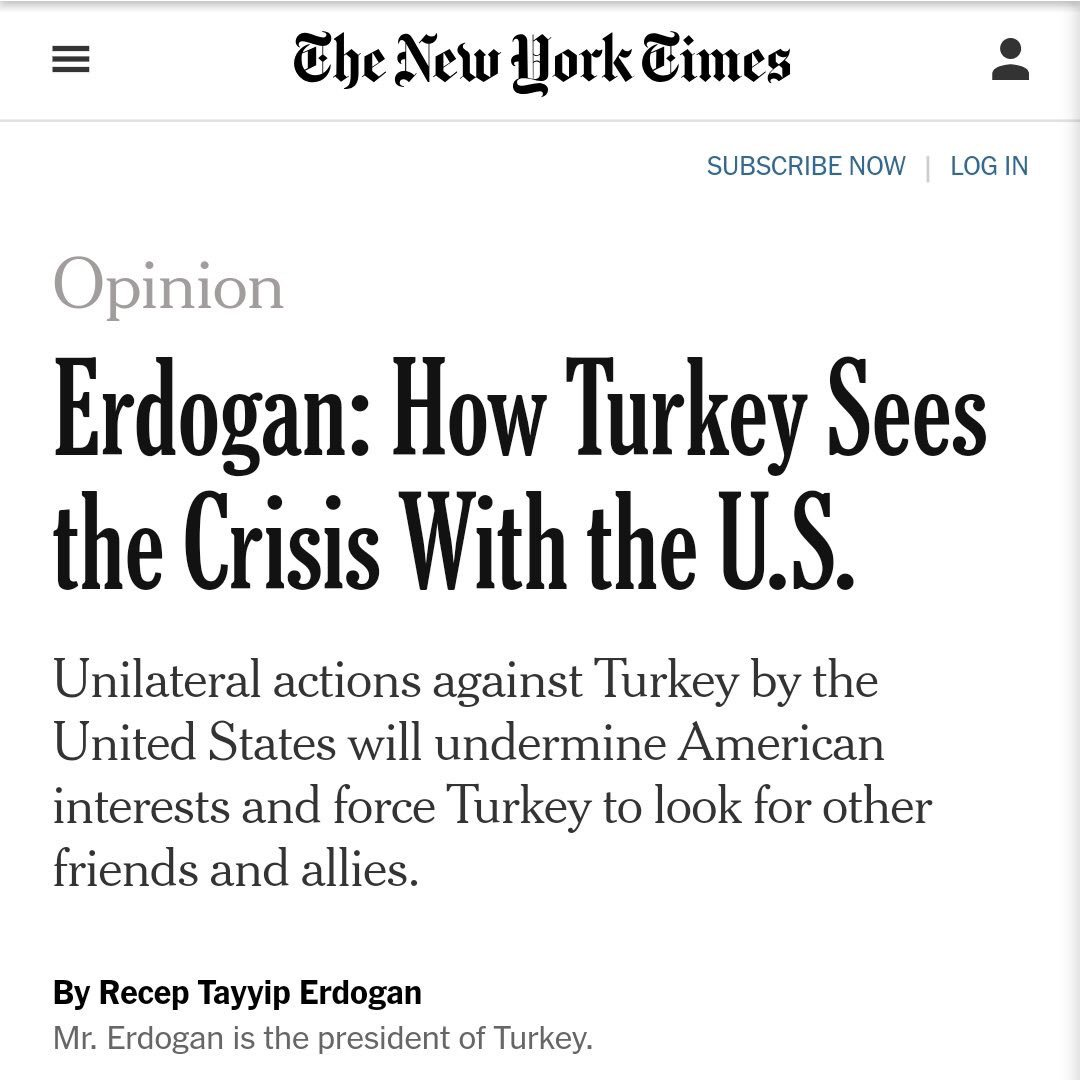 .@nytimes: It was bad enough to let the world's leading jailer of journalists use the free American press, but to do without fact checking him was irresponsible. @RT_Erdogan's justification for the invasion of #Cyprus was laughable.<br>http://pic.twitter.com/sAuK5VAc5D