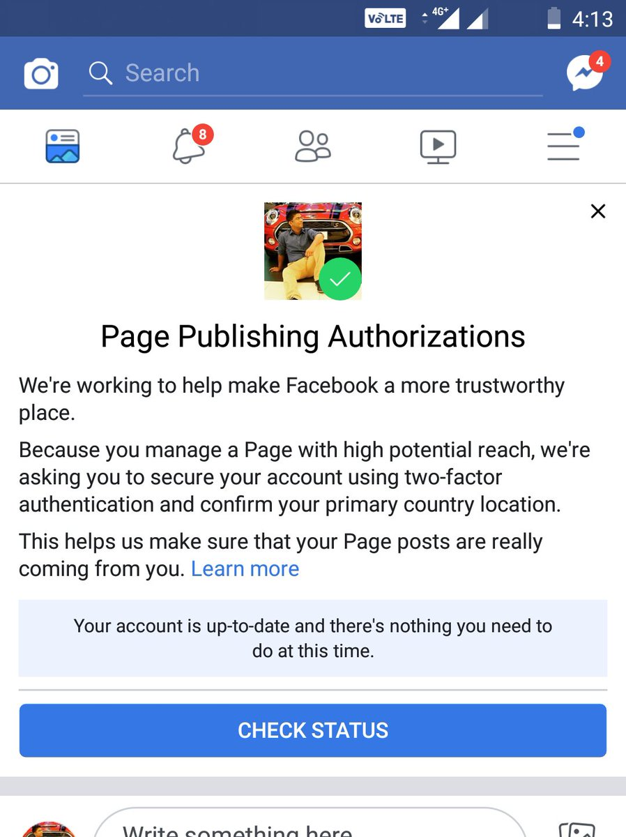 #Facebook makes it mandatory for administrators of large Facebook pages with high U.S. followers and reach to secure their account with two-factor authentication (#2FA) and confirm their primary home location.