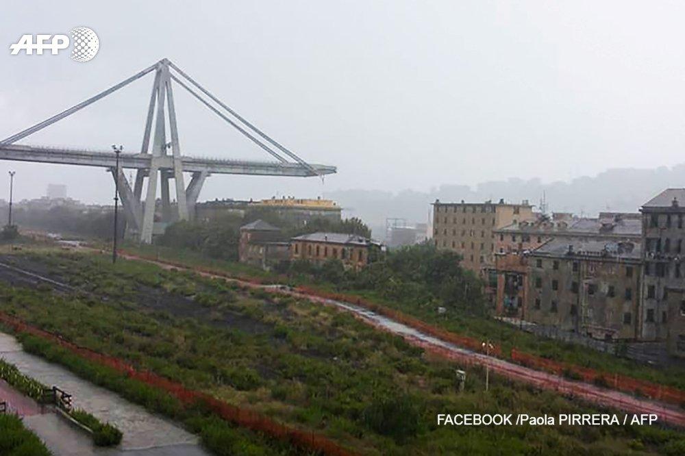 Italie: un viaduc de l'autoroute A10 s'écroule à Gênes https://t.co/iOConsg3R3 #AFP