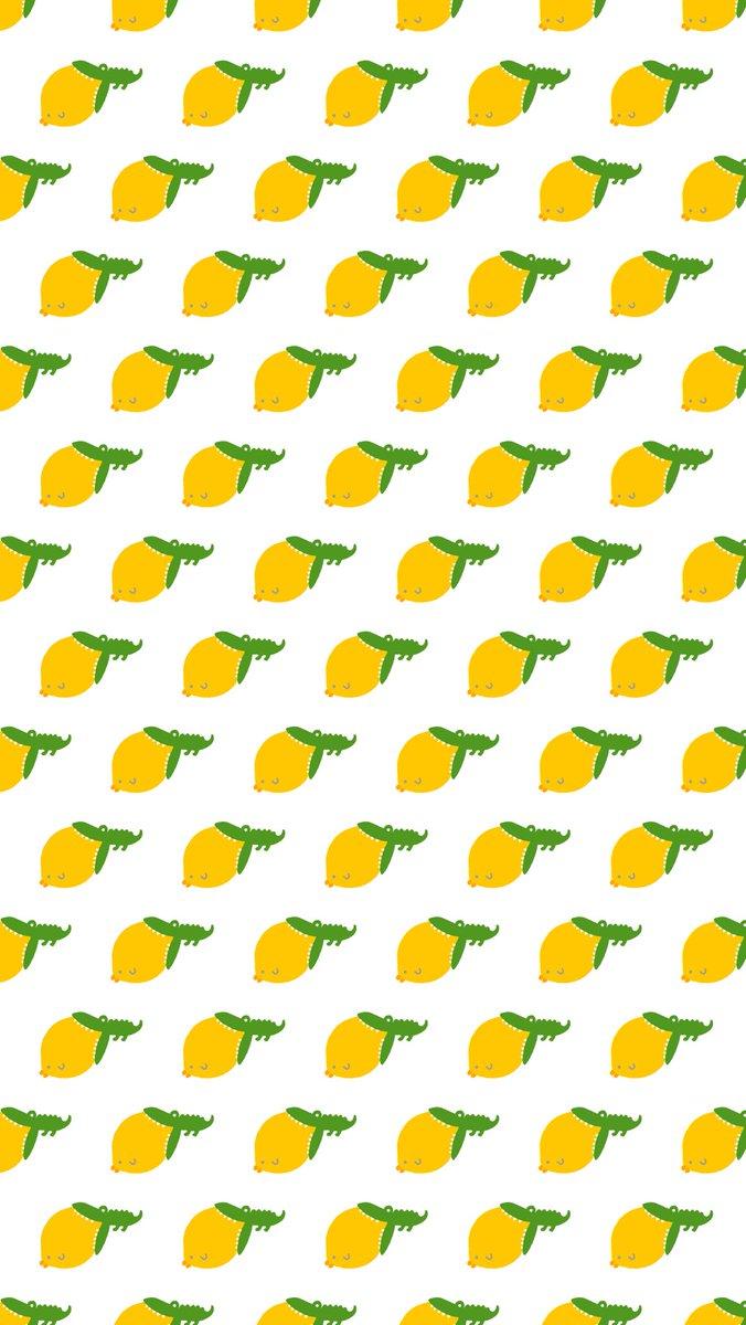 レモンと見せかけてヒヨコに食らいつくワニ柄です🍋