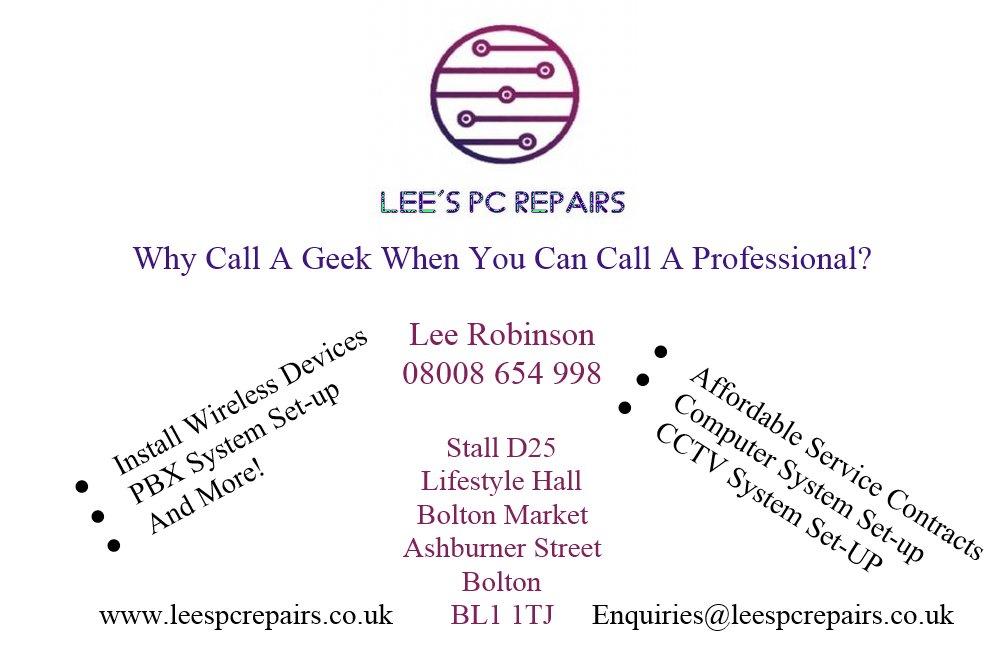 Lee's PC Repairs (@leespcrepairs) | Twitter