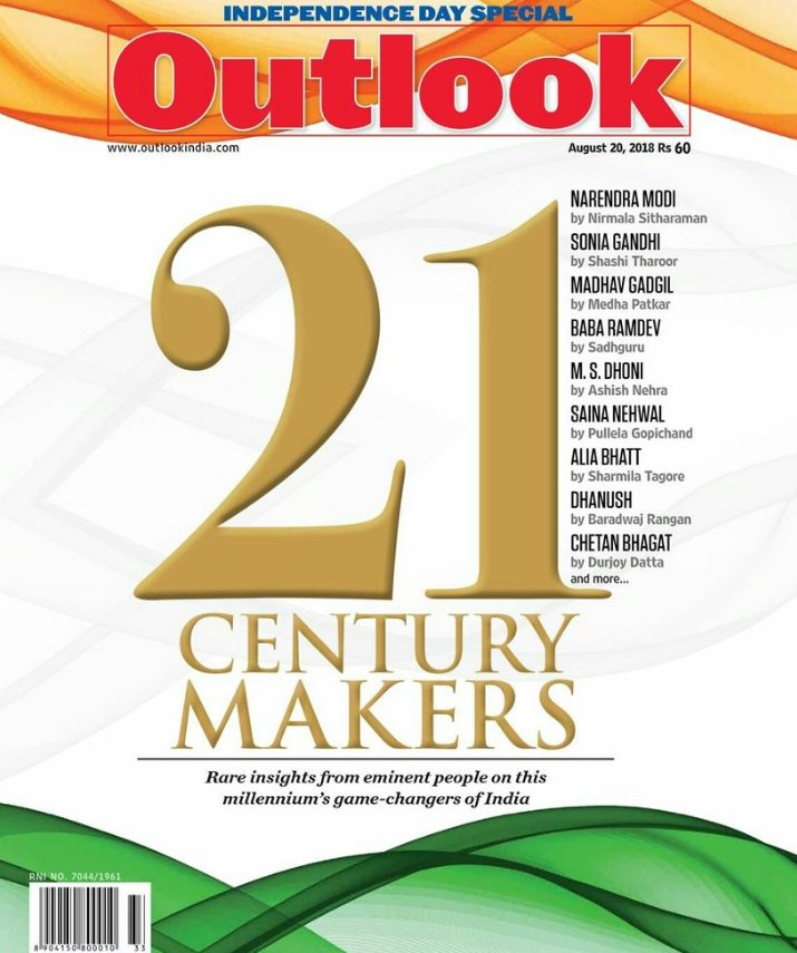 Super thrilled to have contributed to this @Outlookindia Independence Day special issue, on game changers of the millennium.  They asked me to write on @dhanushkraja, whom they titled &quot;The Slender Star of Tamil Cinema&quot; <br>http://pic.twitter.com/ixu6XiCkWC