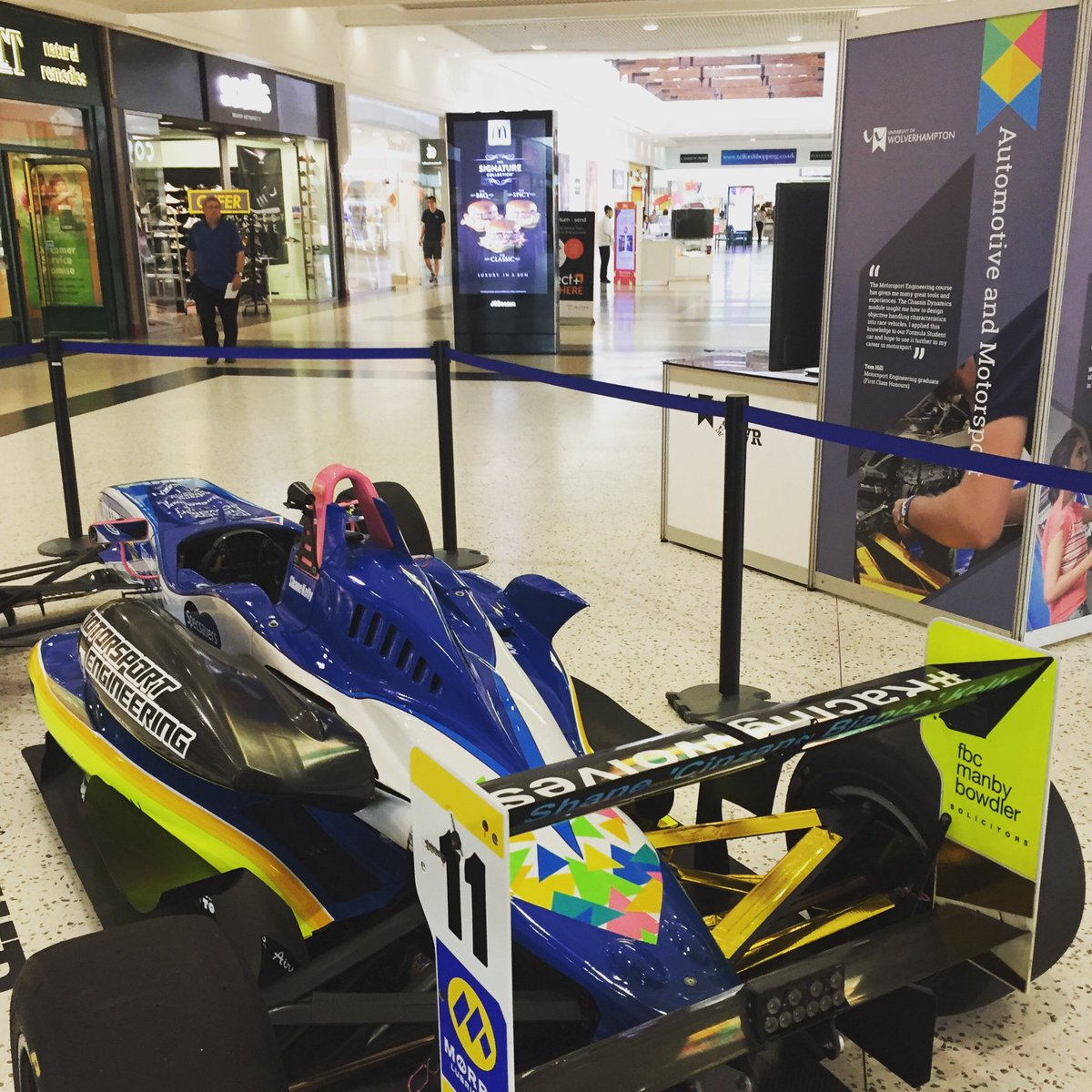 We never stop!!!! Come and see our F3 cup car at @telfordcentre today!Come meet the team and find out about @wlvuni #telford #engineering #students #studentlife #uwr #racingwolves @TungaloyUK @LaserProcess @VarleyRedTop @Morrisoil @quickgrind @lenovo @BriStorSystems @BetaToolsUK<br>http://pic.twitter.com/w6and8yz35