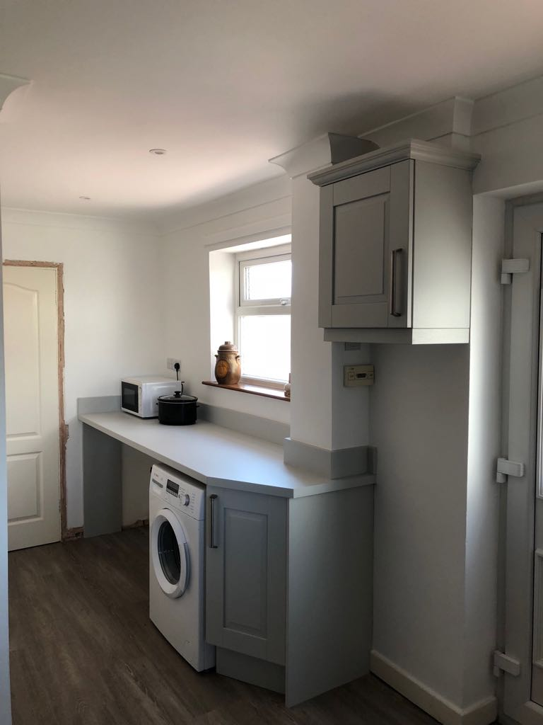 What a difference this has made, from a small cramped kitchen to a large open social kitchen dinner! Designed Supplied & Installed by our family. @Kitchen_Stori Windsor Classic Painted Light Grey looking ace!📸🍾 #Staffordshirekitchens #kitchens #kitchendinner #classykitchen