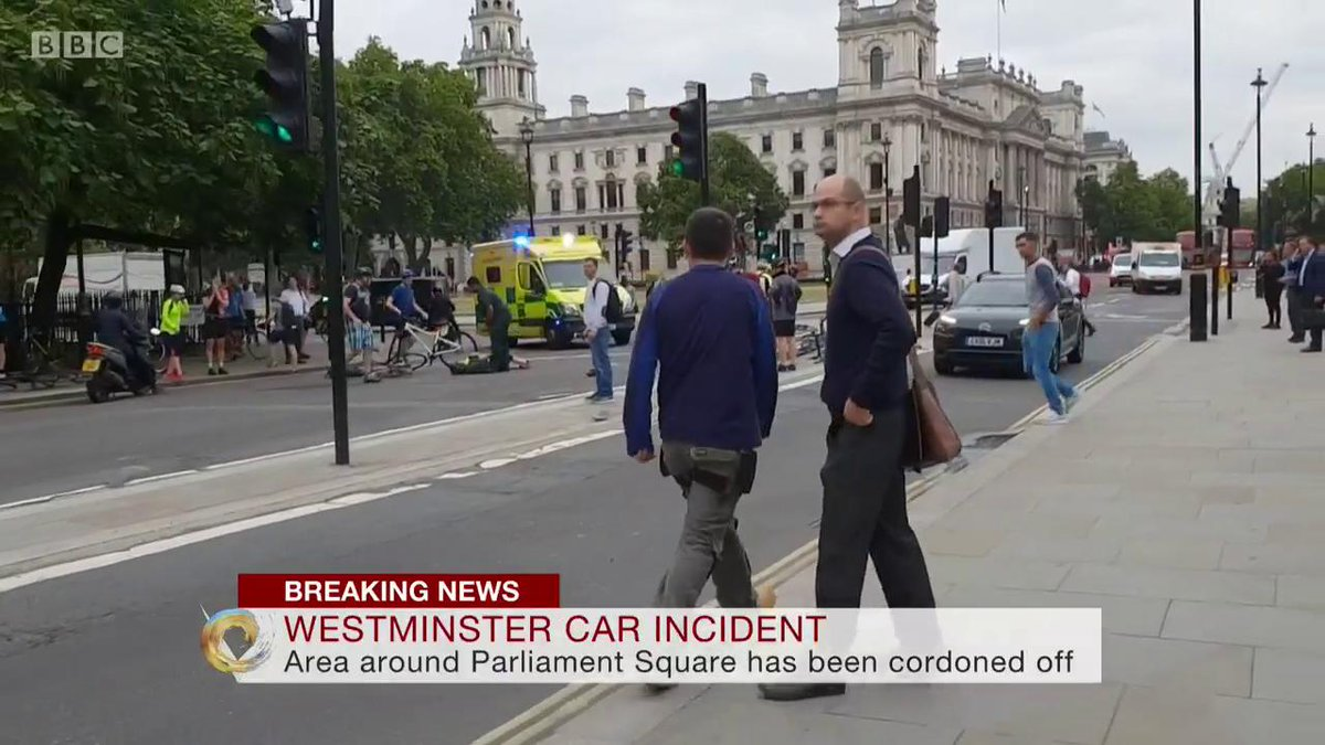 "bbc news (uk) on twitter: ""man held after car crashes into security"