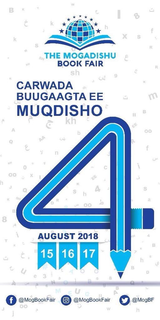 Tomorrow is the day many of us waited and it&#39;s the first day of @MogBF this yearly annual event brings together book lovers,writers and poetry&#39;s, if you are in the capital don&#39;t miss this historic event #MBF2018<br>http://pic.twitter.com/79AeFZFvG3