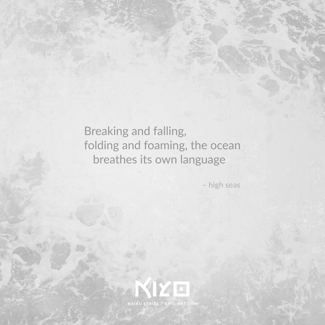 High Seas – from the Haiku series.  Powerful, yet beautiful; alluring, yet dangerous — the ocean is as contradicting as us humans, and to be treated with respect.  Love, #Kiyo – #haiku #senryu #poetry #micropoetry #visualpoetry #sea #ocean #water #language #waves #wave #breaking<br>http://pic.twitter.com/ACQJvn6ig3