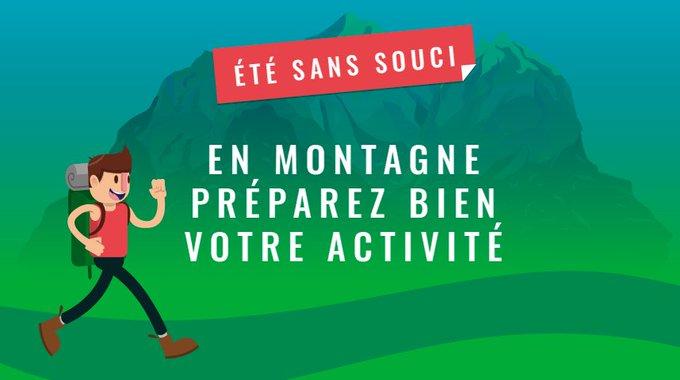 Avant une sortie en montagne, suivez les conseils de @Sports_Gouv pour pratiquer votre activité en toute sécurité 👉🏼 #étésanssouci #MardiConseil Photo