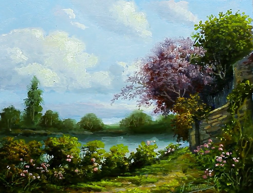 Lake Oil Painting Landscape By Yasser Fayad  https://www. youtube.com/watch?v=vHP-TL I_kzU &nbsp; … <br>http://pic.twitter.com/cPeikiyYpR
