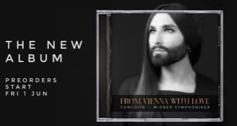 Stay tuned! On 19 October FROM VIENNA WITH LOVE by Conchita (Wurst) &amp; Vienna Symphony (ballades-worldhits &amp; selfwritten song by Tom Neuwirth) will be released  https:// lnk.to/PreOrder-Conch ita-FromViennaWithLove &nbsp; …  AND at the beginning of 2019 Conchita&#39;s 2nd solo album <br>http://pic.twitter.com/hadD9W747L