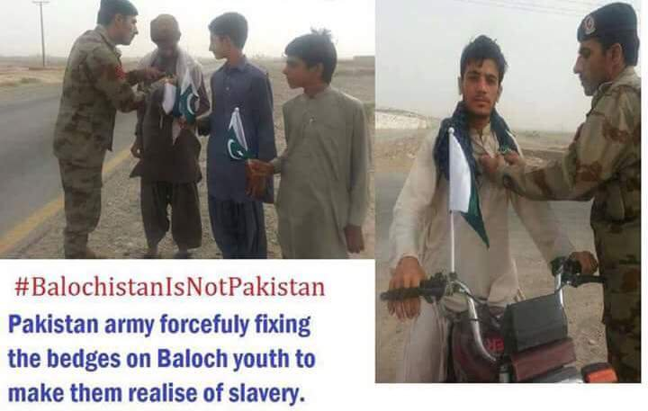 #Pakistani Army forcefully fixing the badges on #Baloch youth to make them realise of slavery. #14AugustBlackDay #BalochistanIsNotPakistan #FreeBalochistan<br>http://pic.twitter.com/91fBKosF31
