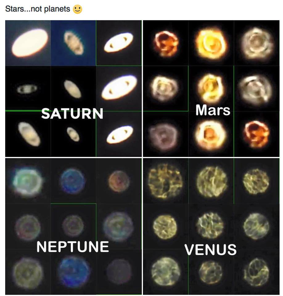 The Stars and Planets are definitely not Spheres. That&#39;s blatantly obvious to any amateur Astronomer <br>http://pic.twitter.com/VjIwYM8C5C