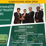 Image for the Tweet beginning: 3rd Commonwealth Digital Health Awards