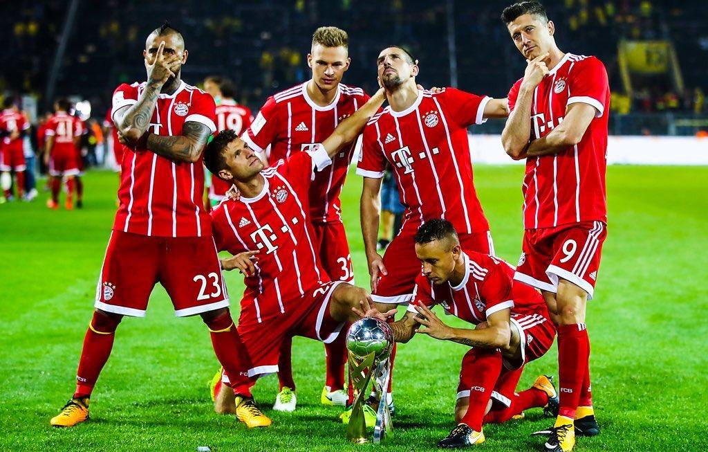 Quand le Bayern Munich célèbre sa Supercoupe d'Allemagne 🇩🇪🏆  2017 🆚 2018