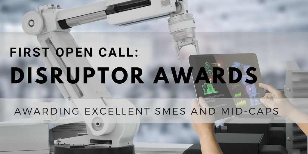Remember!!! #I4MS Disruptor Awards Deadline: 5th of September!  Apply now   http:// bit.ly/2smDhmN  &nbsp;    @FortissimoPro, @EU_Cloudflow, #CloudSMEs, #LASHARE, #INTEFIX, #EuRoC, #Appolo, @ReconCell, @BEinCPPS, #Fortissimo, @H2020_HORSE, #MIDIH, @CloudiFacturing, @L4MS_EU #AMable<br>http://pic.twitter.com/CSDKAczcO7
