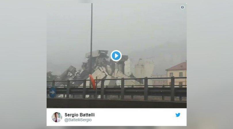 ALERTE INFO - Italie: un pont autoroutier s'écroule à Gênes https://t.co/pabhHr8Mjs