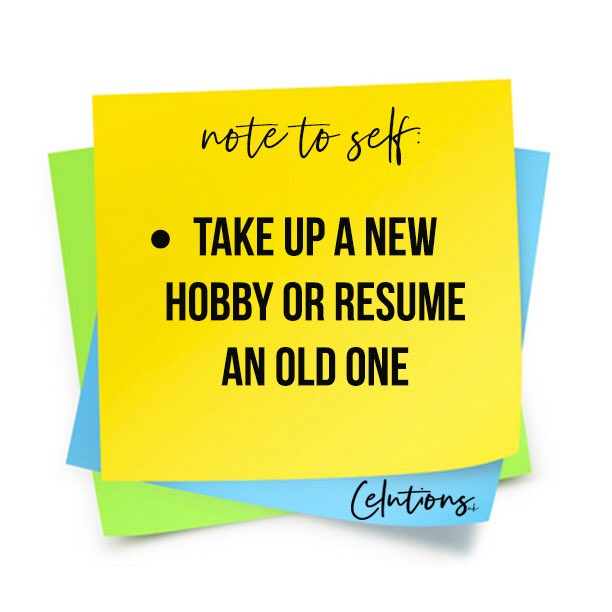 Remember that hobby that you've always wanted to take up? Or the one that you used to do but stopped?   If it makes you happy, take it up! Put more effort into doing things/activities that make you happy or will benefit you  <br>http://pic.twitter.com/eMXcs0E18o
