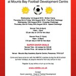 SUMMER CAMP DAYS 2 & 3 WERE A BLAST ⚽️👏 DONT MISS OUR NEXT FOOTY CAMP TOMORROW💥☀️  For more info about the camps see the poster or click the link to our website to see what else is on offer at MBFDC -   #cornishfootball @cornwallfa @MountsBaySchool https://t.co/dbtNfnbyof