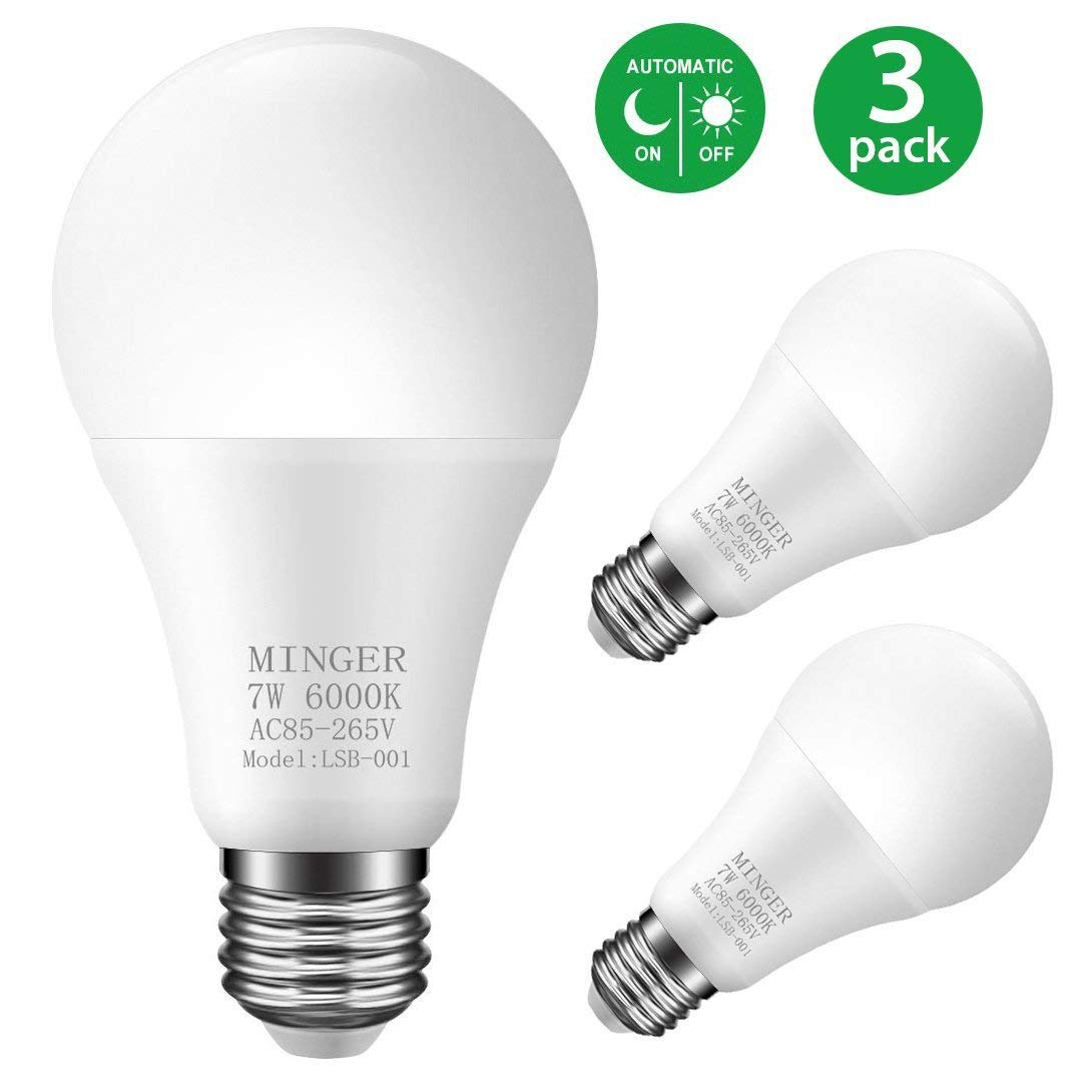 Wow!  Get 3-Pack LED Dusk-to-Dawn A19 Light Bulb, 7W (70W Equivalent) for only $11.99!  Save 40% off w/ Promo Code: 4TW4B42Z   https:// amzn.to/2OzsH4r  &nbsp;    #smarthome #lighting #deals #hoe #pathway #garden @fleshypica<br>http://pic.twitter.com/d3i2ACqXoe