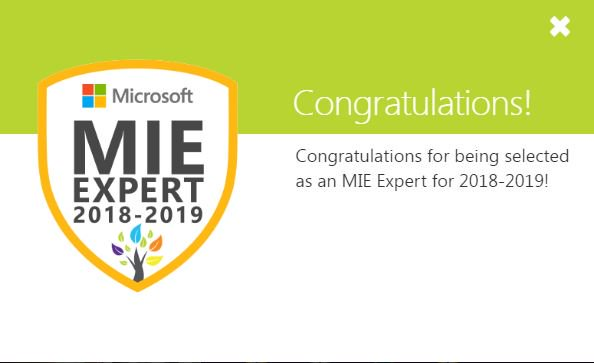 Our Director of Innovation and Outreach, Graeme Lawrie is excited to have been awarded Microsoft Expert Educator for a 4th year.  This role offers exciting opportunities for collaboration, exploring innovative solutions in education and sharing best practice  #MIEExpert <br>http://pic.twitter.com/6OWuCCXWKy