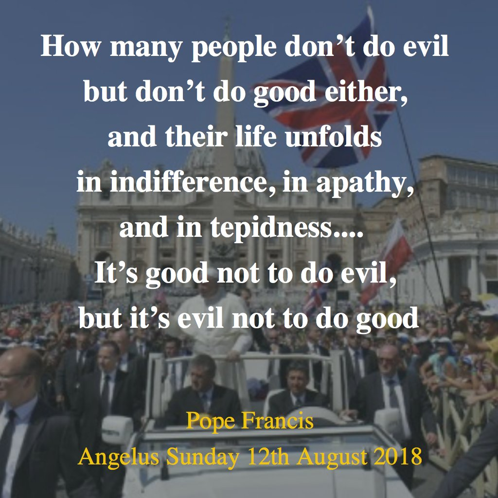 Angelus Address of the Holy Father #PopeFrancis on Sunday 12th August 2018.  Pope Francis quotes St Albert #Hurtado SJ  (1901-1952) who founded the Hogar de Cristo serving poor and abandoned young people of #Chile. His Facebook fan page has 50,000+ followers.  #CatholicTwitter<br>http://pic.twitter.com/ubFQJDaoY2
