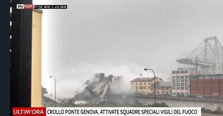#UltimOra Crollo #ponte autostrada a #Genova, attivate squadre speciali Vigili del Fuoco. Fonti soccorritori: una decina i mezzi coinvolti #Canale50 http://sky.tg/cpfyy  - Ukustom