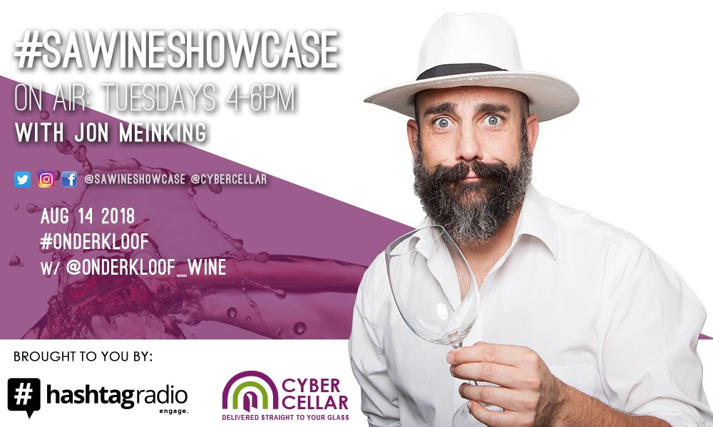 Catch @onderkloof_wine later as we chat to GM/winemaker Yves, and marketer Luanne, all about this little wine farm's wines (incl their Cab Franc rosé) situated below Sir Lowry's Pass.  Remember, to {WIN} that @Cybercellar voucher, use #SAwineshowcase!   #Onderkloof <br>http://pic.twitter.com/CWsu0ZQvTv