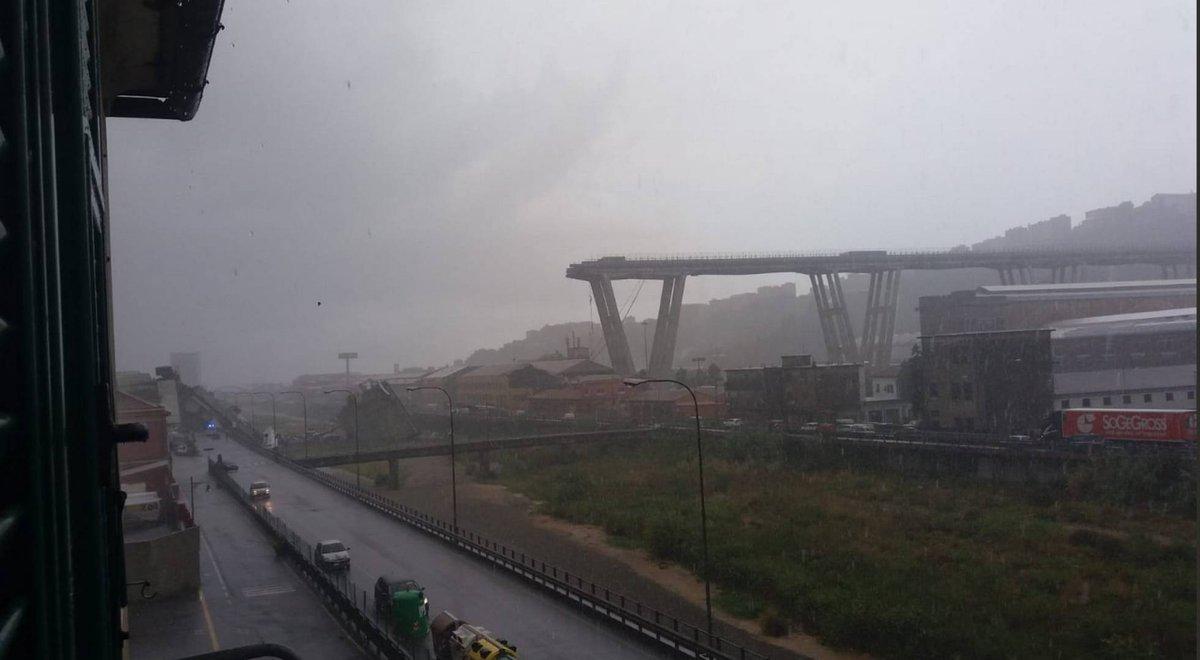 Así ha quedado el puente derrumbado de Génova https://t.co/oYHl0NO6xz
