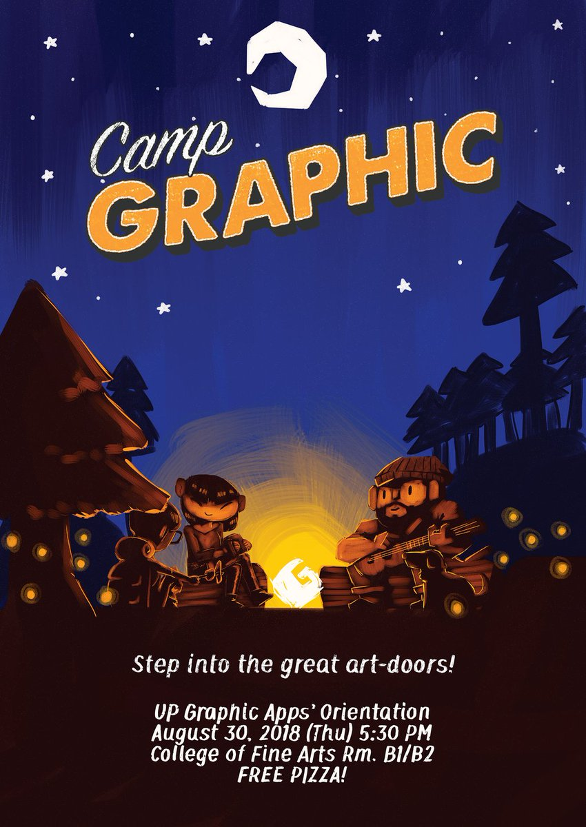 UP Graphic is looking for new scouts—brave souls with hearts for creativity &amp; adventure—to join the family. No matter your skill as an illustrator or designer, we can help you collaborate &amp; grow!   Fill up this application form to start your journey:  http:// tinyurl.com/CampGraphic  &nbsp;  <br>http://pic.twitter.com/izYGnk8x8b
