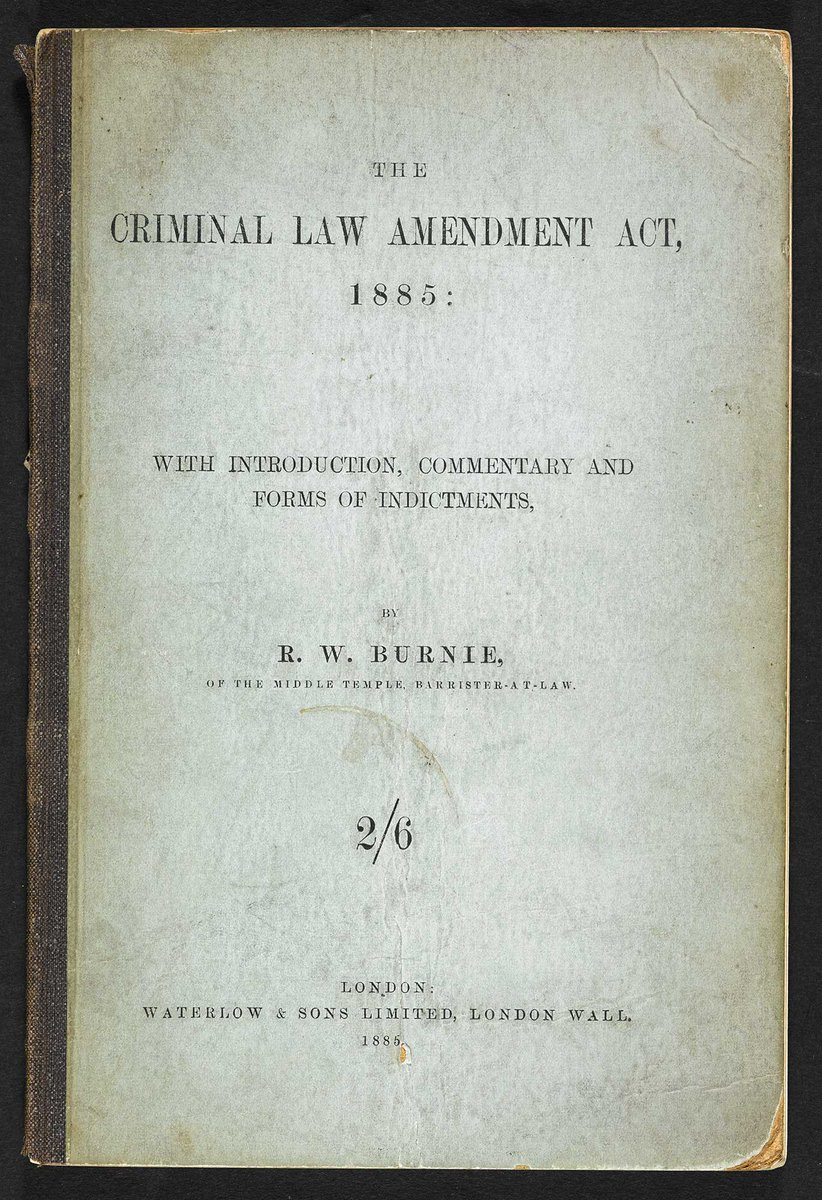 #Onthisday in 1885 the Criminal Law Amendment Act was passed, making any male homosexual act illegal. It became notoriously easy to blackmail gay men, with Oscar Wilde falling victim 10 years later #BLGayUK #LGBTQ https://t.co/dPuUVW35Bi