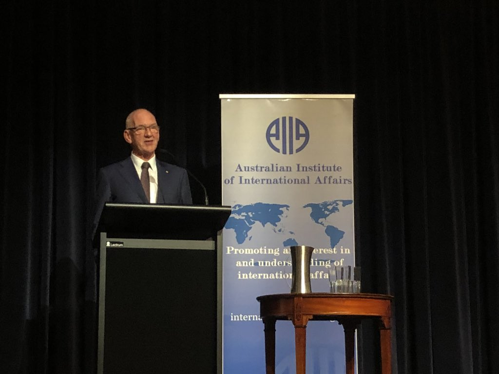 Been a pleasure to have Allan Gyngell as our 2018 Annual Dinner keynote speaker. Thank you to all who in attendance and have taken an interest in future of the global order @caitebyrne @JacintaOHagan1 @APhillipsIntRel @MConleytyler @AIIANational @timdunneAPR2P