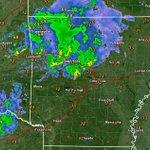 Image for the Tweet beginning: Arkansas radar at 6:10 AM