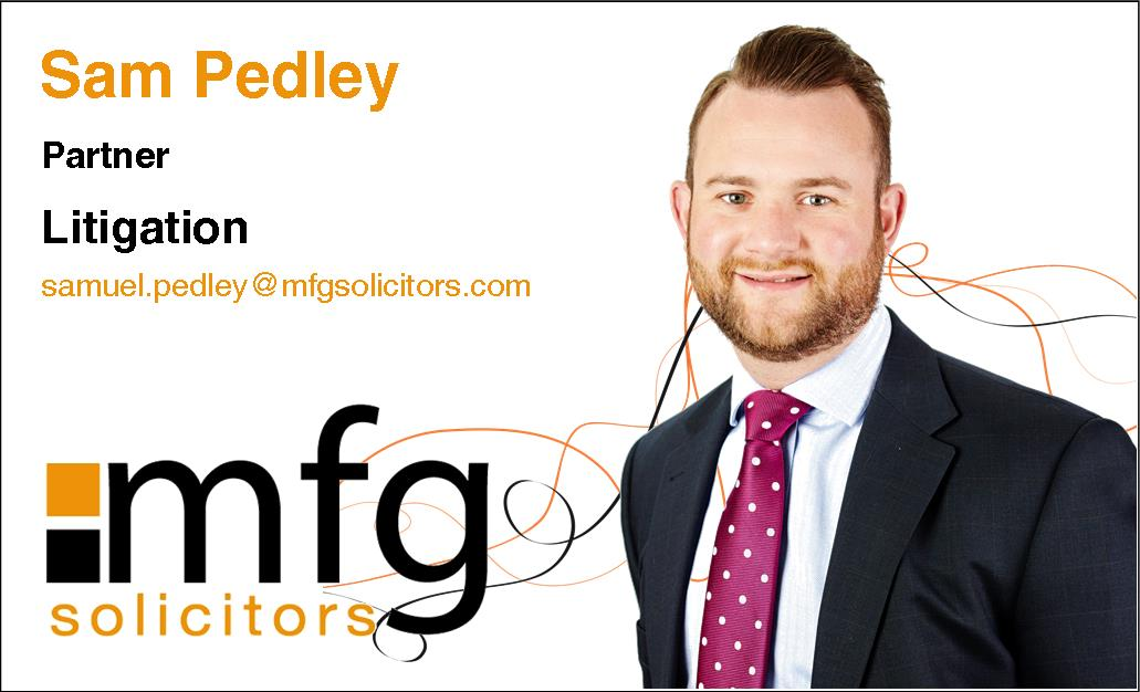 *Meet the mfg team* Sam Pedley is a partner in our commercial litigation department. He specialises in a range of litigation matters including intellectual property, debt recovery and professional negligence. Sam is also an experienced rugby player at Dudley Kingswinford RFC <br>http://pic.twitter.com/HCVTSb0FR9
