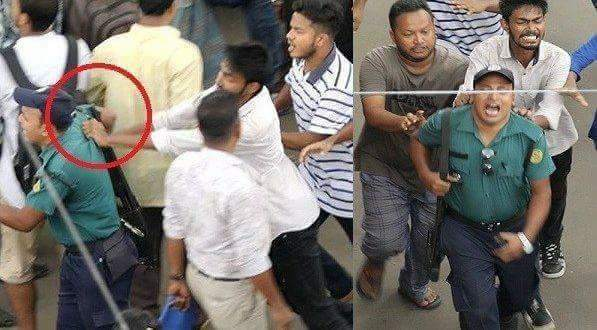 Chhatraleague (#BCL) the rulling party&#39;s member has attacked a #Police member discouresed them who drive motorcycle without helmet.  #WeWantJustice #BoycottChhatraleague   @BBCWorld  @AlJazeera_World  @FoxNews  @CNN  @BreakingNews  @amnesty  @dailystarnews  @XHNews  @TIME<br>http://pic.twitter.com/48MIsPHljt