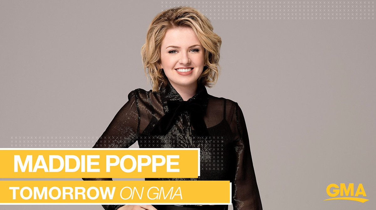 TOMORROW on @GMA: @AmericanIdol winner @MaddiePoppe performs LIVE in Times Square!