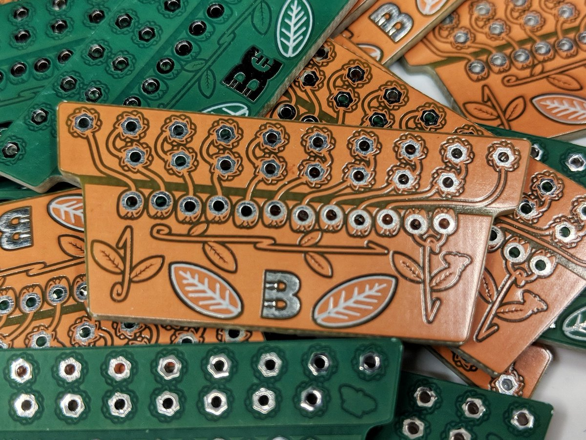 Lots of 'ResPots' arrived from @eC_PCB for our electronics garden! Lovely. #BoldportClub