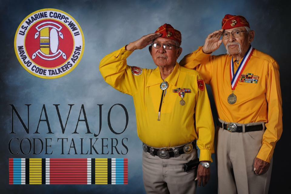 Navajo Code Talkers Day.  They were forbidden to speak their own language but that same language saved the Nation. America owes them so much for putting the past behind them and stepping up when needed. <br>http://pic.twitter.com/BqJe2vjtNm