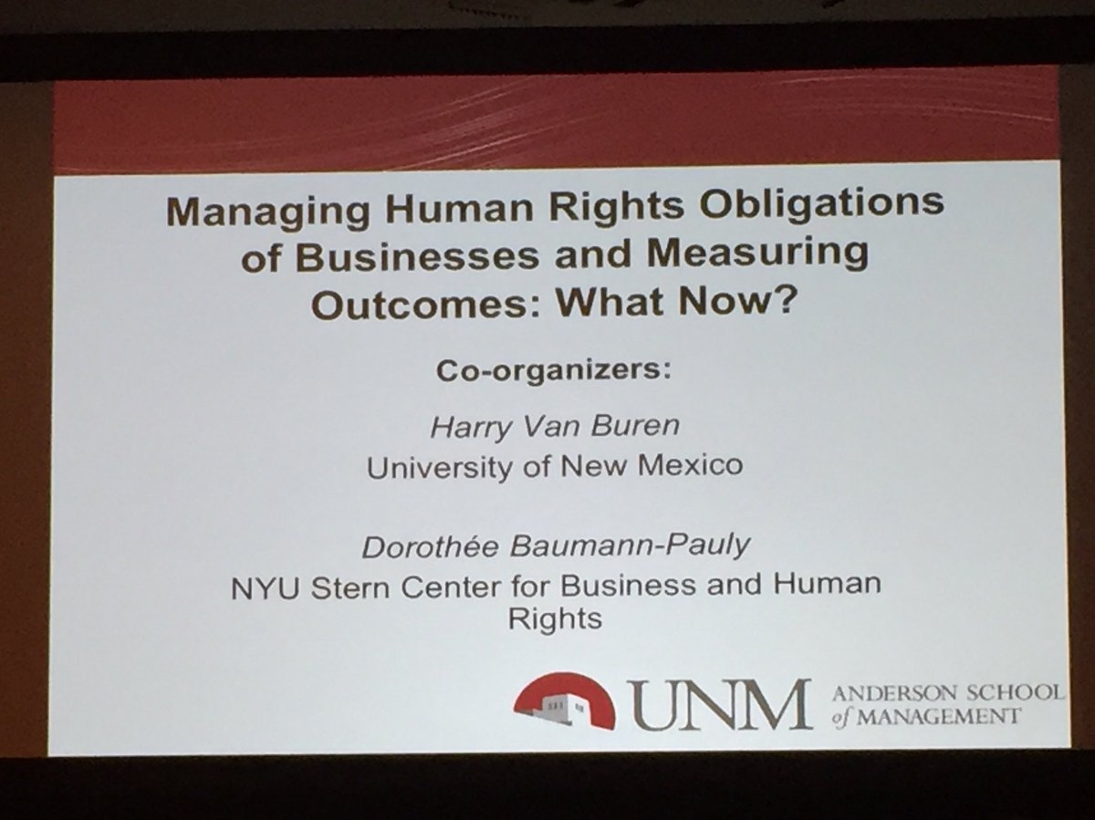 Management scholars advancing efforts to measure business performance on human rights #AOM2018 provocative panel presentations, interesting discussion about the challenges #researchimpact <br>http://pic.twitter.com/hm9hfzewIF