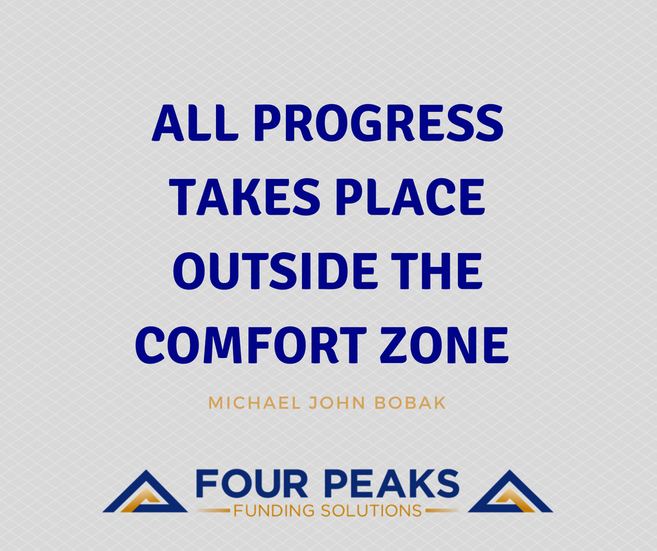 If you want to progress at anything in life you must be willing to step outside of your comfort zone! #TuesdayThoughts #FourPeaksFunding #Progress #ComfortZone <br>http://pic.twitter.com/Pqopc9KxnG