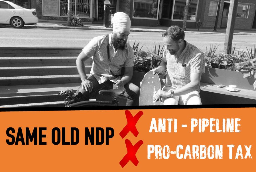The @Sask_NDP and their new leader support Jagmeet Singh and his anti-pipeline/pro-carbon tax campaign in BC.  Did we expect anything less? Same old NDP. 👎  #weakleadership #skpoli