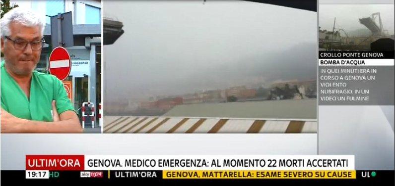 #UltimOra #Crollo #ponte a #Genova, al momento 22 morti accertati  #Canale50 https://t.co/cEwrO6I9zN