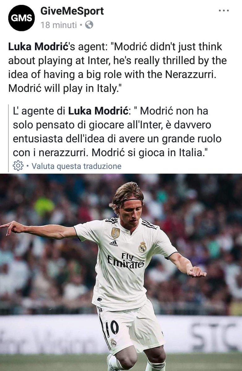 Certo che Natelitic NON È agente di #Modric, ma è strano che nessuno ha negato questa notizia  #Inter #RealMadrid#calciomercato #FCIM #InterIsHere  - Ukustom