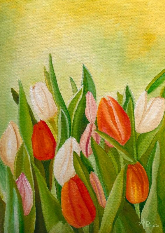 This is my painting &quot;Colors Of Spring&quot;. You can check it out here:  https:// fineartamerica.com/featured/color s-of-spring-angeles-m-pomata.html &nbsp; …  #art #oilpainting #contemporaryart #ArtistOnTwitter #floral #flowers #tulips #spring #repost<br>http://pic.twitter.com/ZOMpG01gbZ