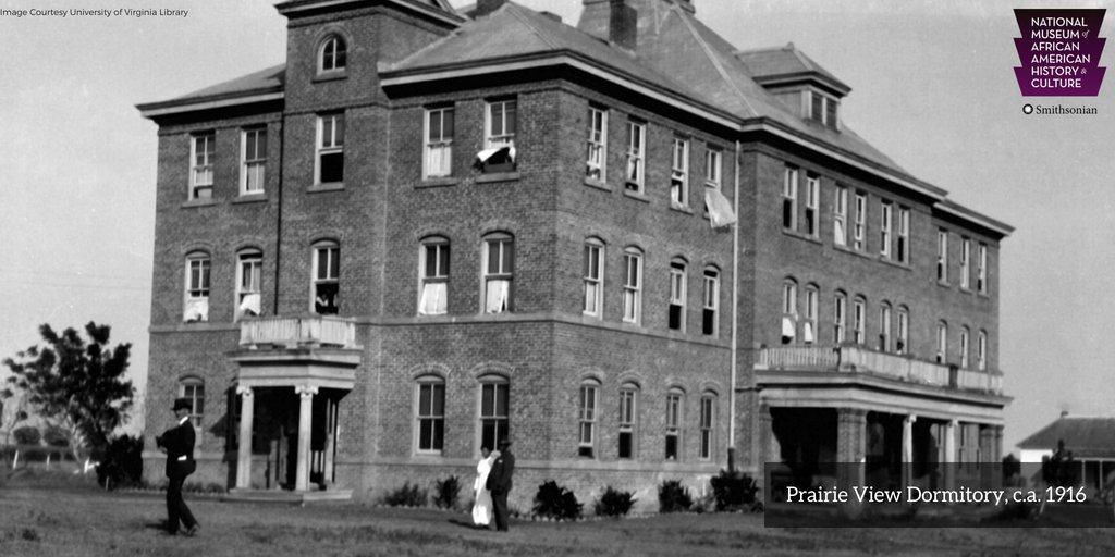 #OTD in 1876, the first state-supported university for African Americans in Texas, Prairie View A&M University (), w@PVAMUas legally established as Alta Vista Agricultural and Mechanical College of Texas for Colored Youth . #APeoplesJourney