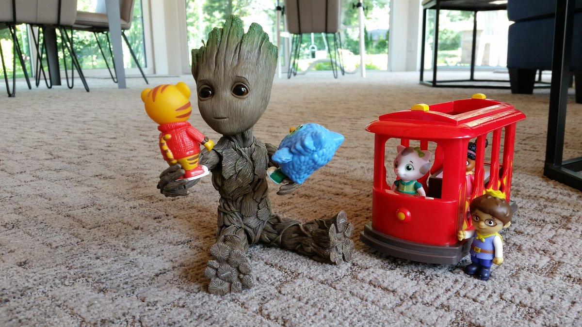 I am Groot? #WontYouBeMyNeighbor #MrRogers #DanielTiger #Trolley  #groot#babygroot#iamgroot#wearegroot#twig#guardians#guardiansofthegalaxy#guardiansofthegalaxyvol2#avengersinfinitywar#gotg#gotg2#marvel#disney#stickpic #instagroot #mrrogersneighborhood<br>http://pic.twitter.com/tzVlMh5rpD