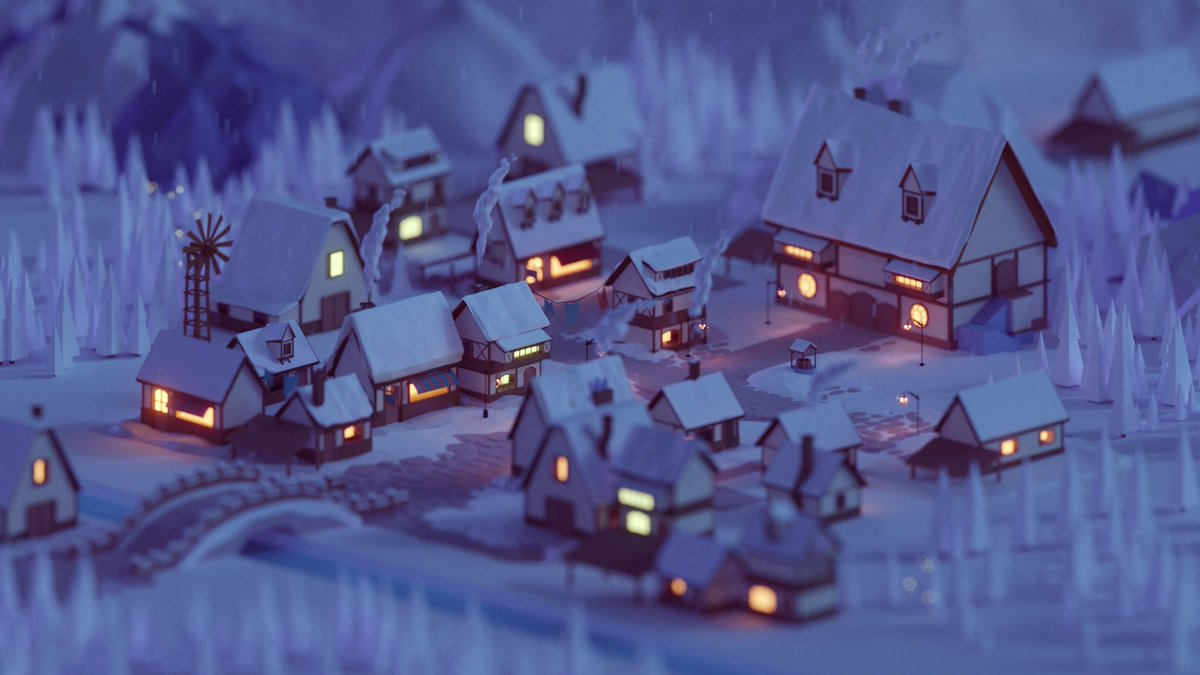 A render for a cancelled project, some lowpoly fantasy village #blender #b3d #isometric #Lowpoly <br>http://pic.twitter.com/oSKvtPMBzs